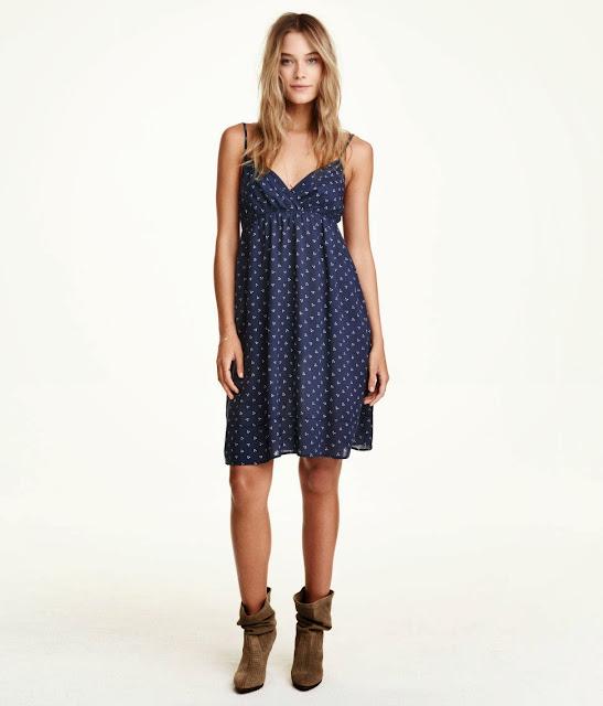 navy summer dress h&m