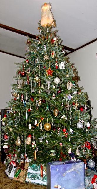 a traditional Christmas tree