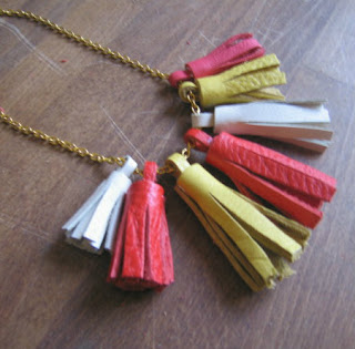 DYI leather tassel necklace