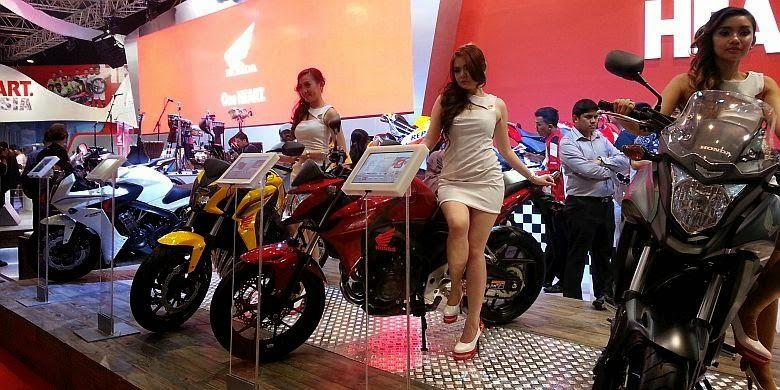 Ini Dia Sepeda Motor Paling Laris di Indonesia - Booth AHM di IMoS 2014