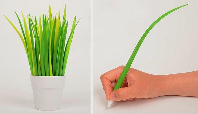 dlugopis zdzblo trawy pooleaf zeup design zakamuflowany dlugopis