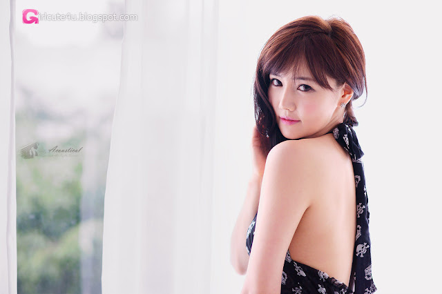 1 Han Ga Eun in Black- very cute asian girl - girlcute4u.blogspot.com