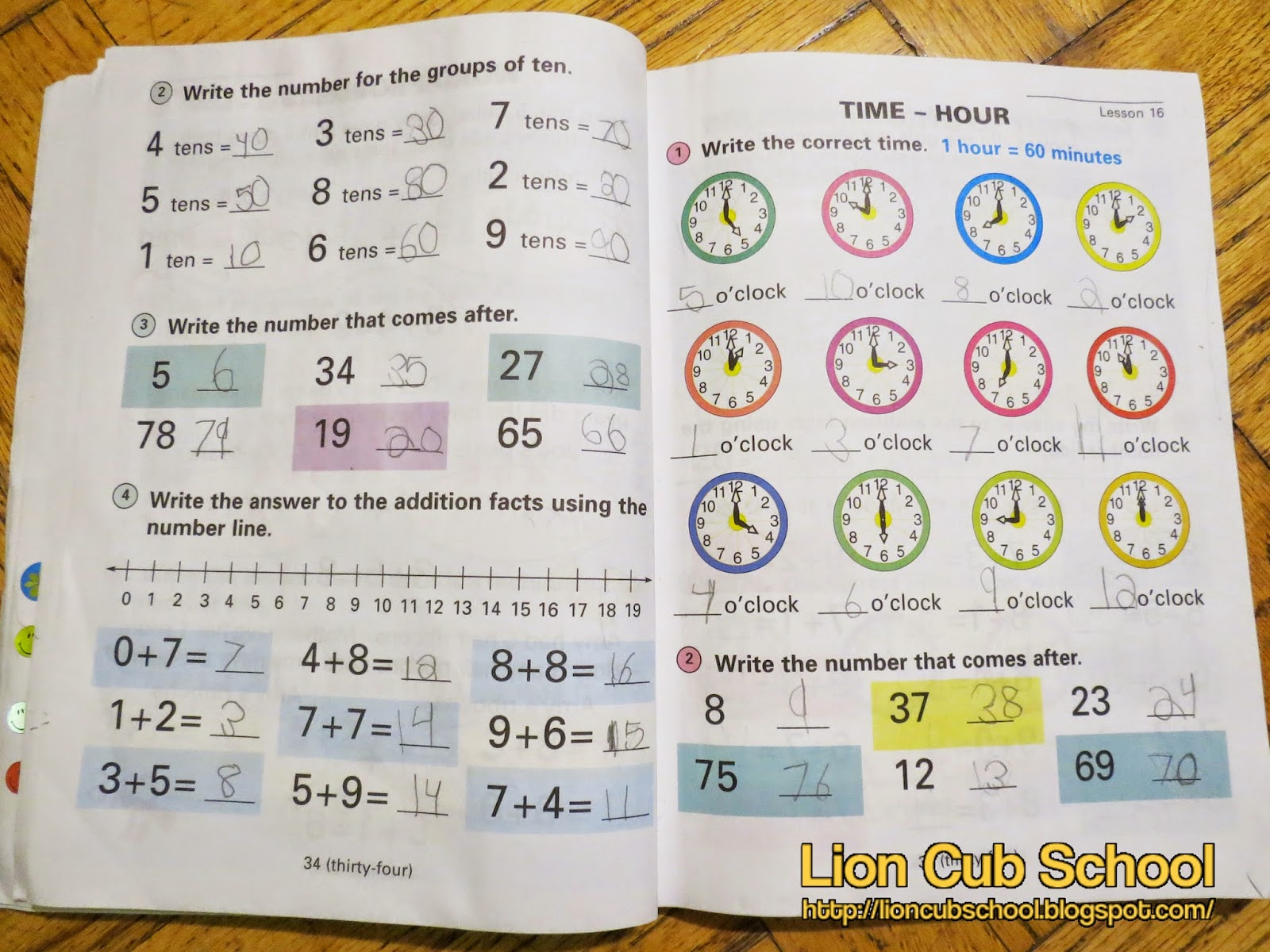 Lion Cub School: Homeschool Curriculum Review: Horizon Math Grade 1