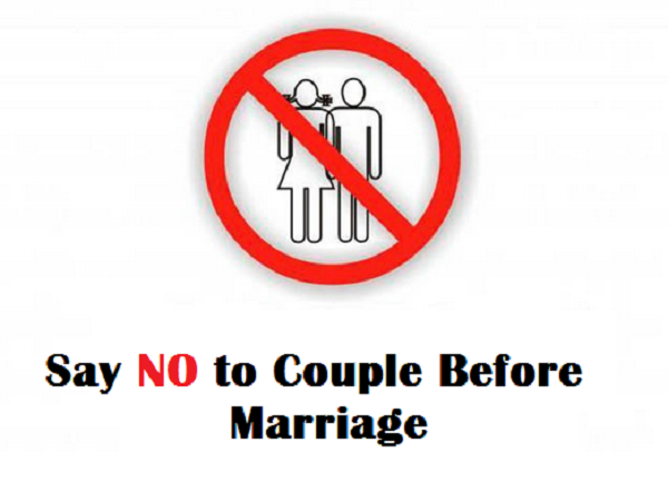 Say no to couple before marriage. Avoid zina