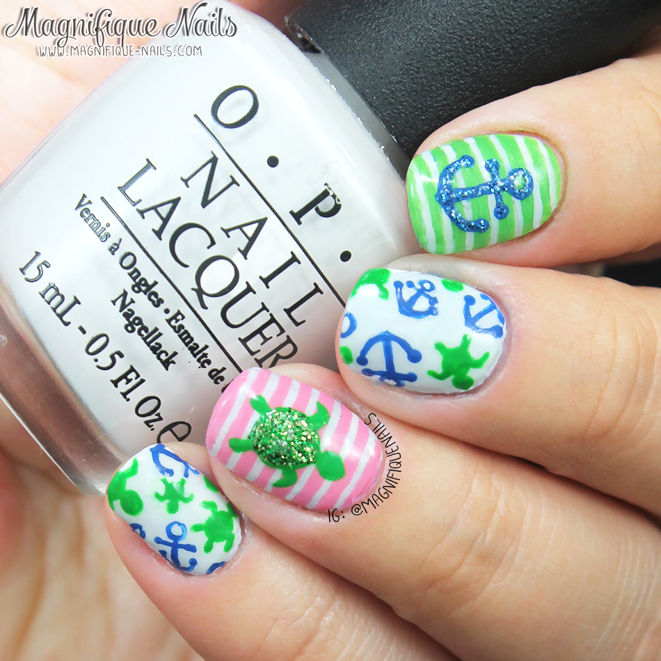 White lacquer paint u design blog - Magically Polished Nail Art Blog Summertime Nails