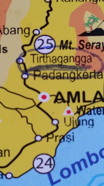 Folleto turístico de Bali