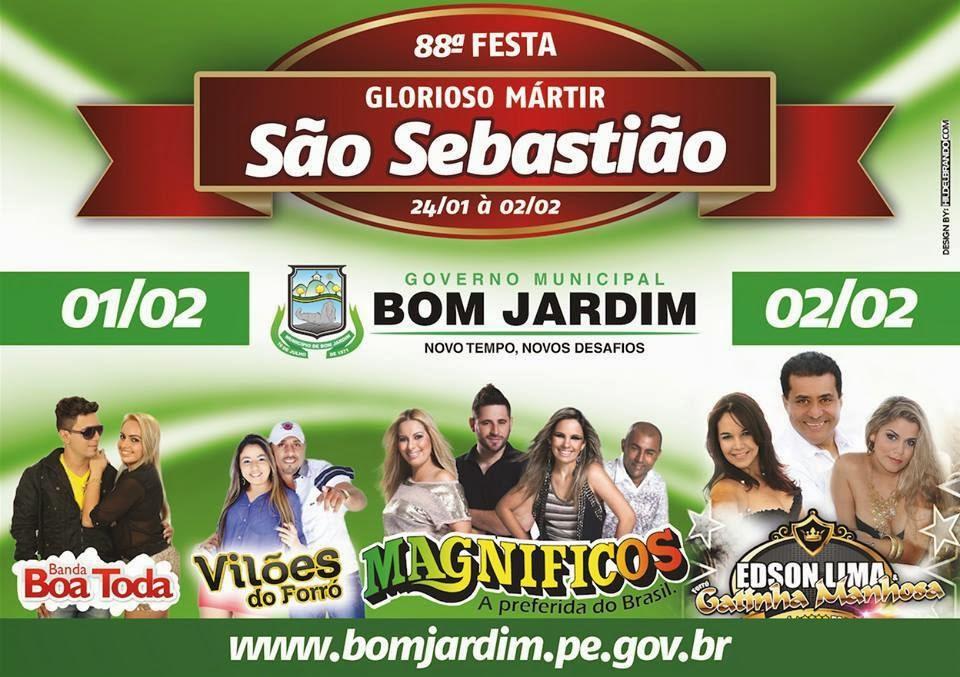 festa em silva jardim:Bandas para Festa São Sebastião do Bom Jardim – PE de 2014 – Tenha