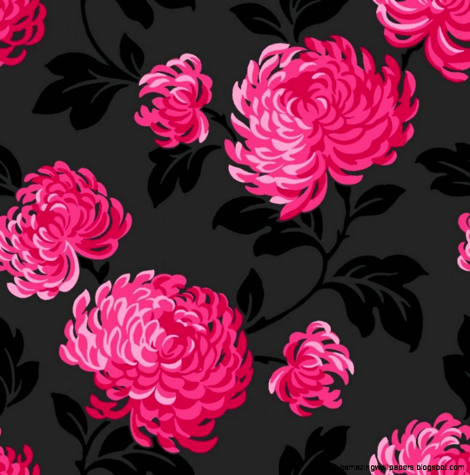 Black and hot pink flower wallpaper amazing wallpapers view original size mightylinksfo