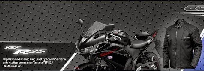 Beli Yamaha R15 & R25 Bisa Dapat Jaket Exclusive