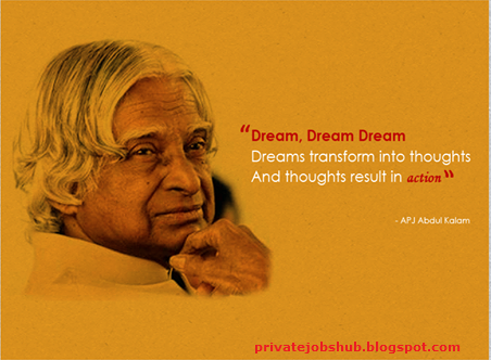 role of youth in fulfilling the dreams of abdul kalam Avul pakir jainulabdeen abdul kalam was an indian scientist who served as the  11th president  he narrowly missed achieving his dream of becoming a fighter  pilot, as he placed ninth in  kalam played an integral role convincing the union  cabinet to conceal the true nature of these classified aerospace projects.