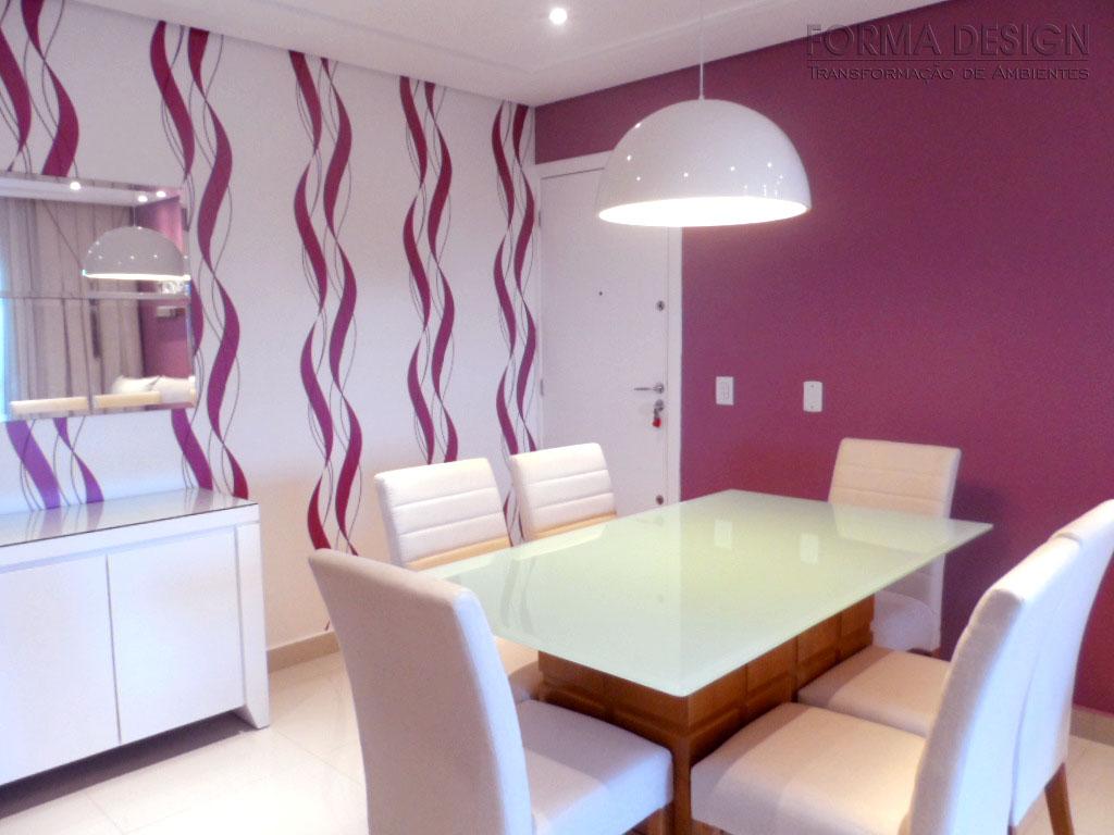 Forma Design Interiores Projeto para Sala de Estar e Jantar