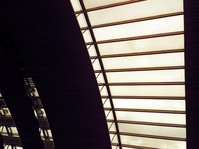 ceiling of Charles de Gaulle Airport