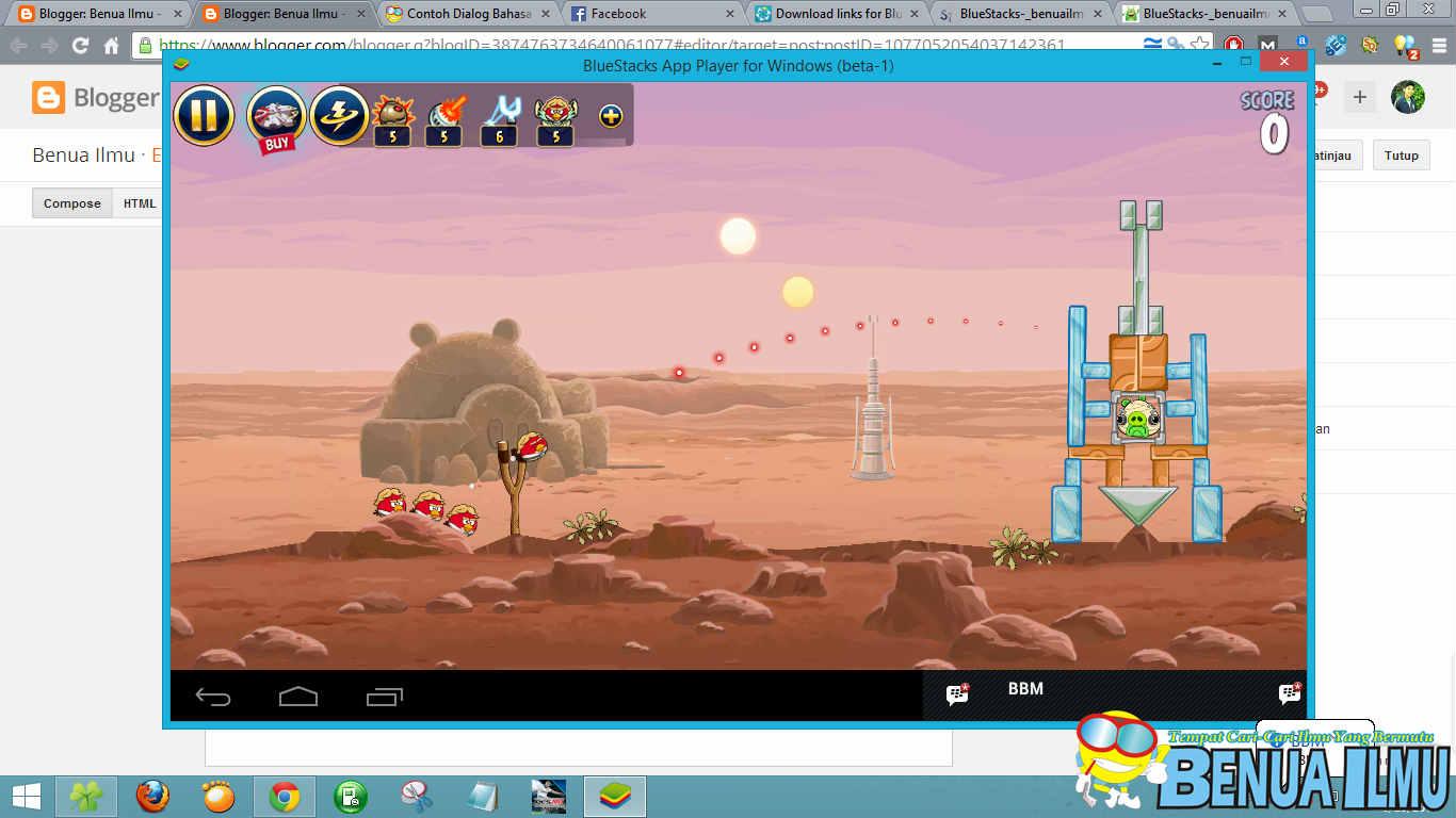 bermain angrybird di pcc