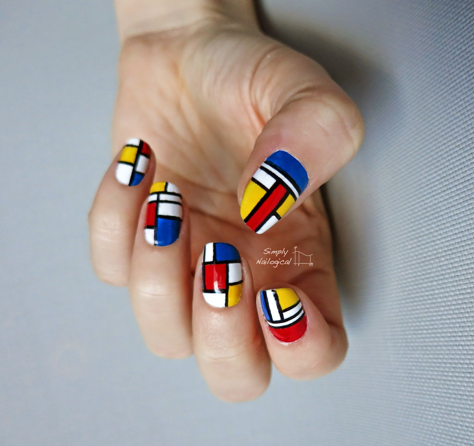 Simply Nailogical: Mondrian inspired nail art
