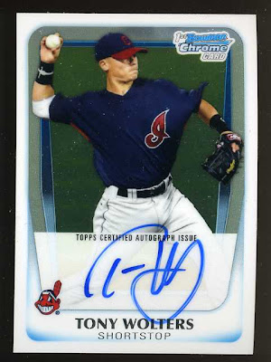 2011 Bowman Chrome Tony Wolters Auto