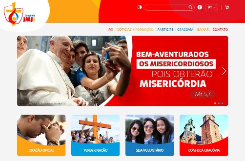 Novo site da JMJ Cracóvia 2016 tem versão em português