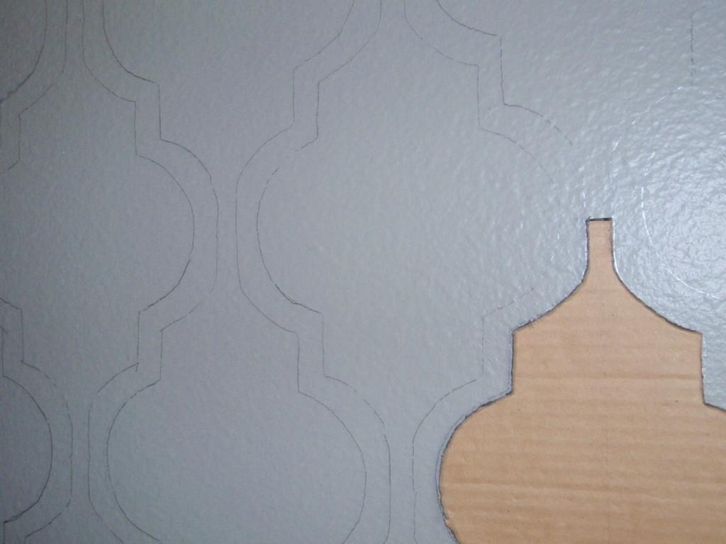 Decoro sin decoro pintar paredes con plantilla - Plantillas pared ...