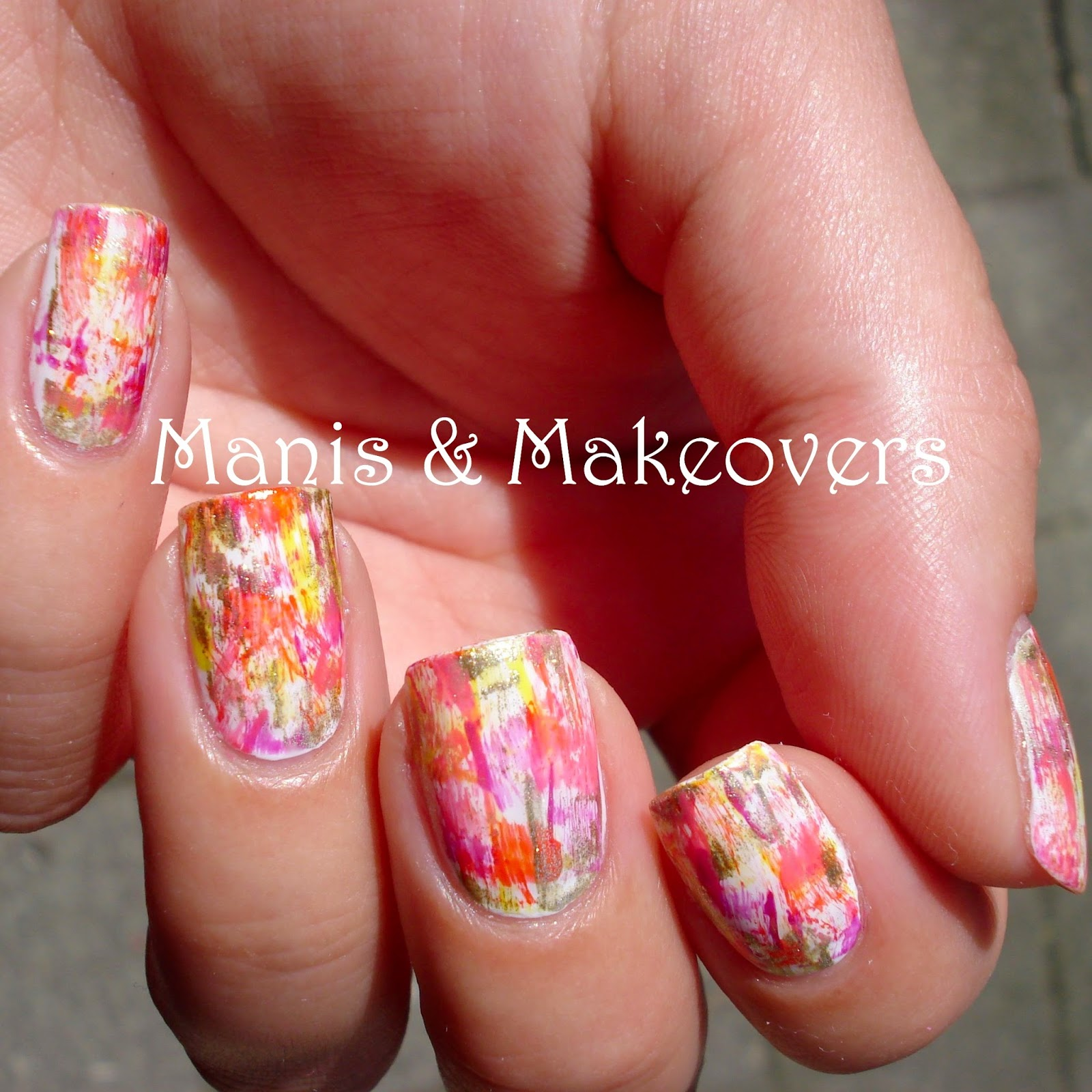 Manis & Makeovers: Tutorial Tuesday: Abstract Nail Art - No Tools ...