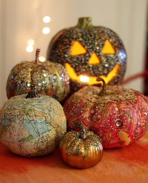 Painted Pumpkin Decorating Home Decorating Ideas