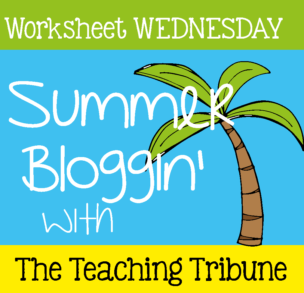 The Teaching Tribune: Free Worksheet Wednesday - Teach Two Reach 2nd ...