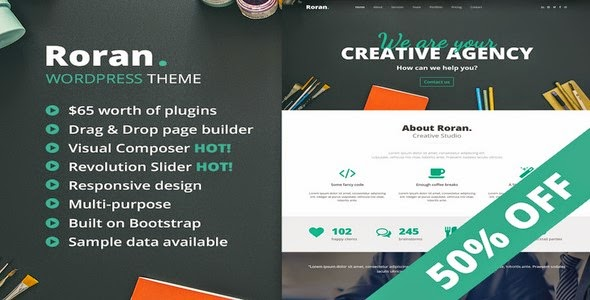 Roran  – One Page Creative Theme WordPress