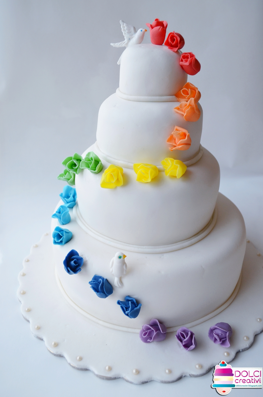 Rainbow Wedding Cake With Butterflies Dony angel cake torte decorate