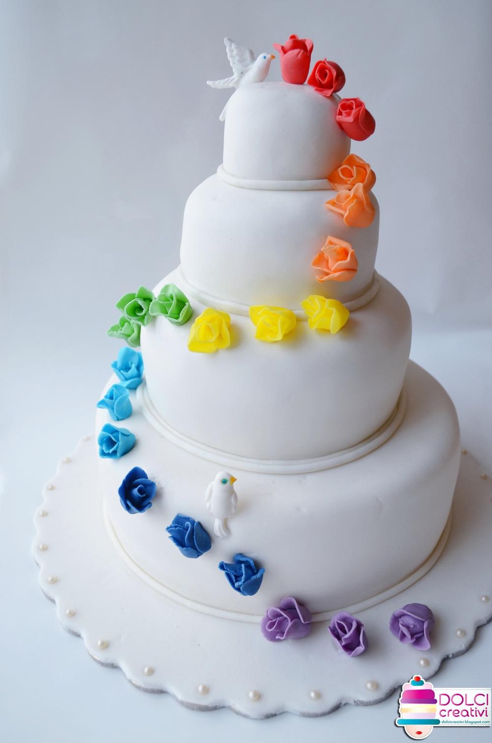Rainbow Wedding Cake Torta Per Anniversario Di 1000 1510