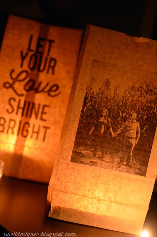 Photo Quote Paper Bag Wedding Luminaries