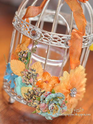 home decor, prima flower, birdcage