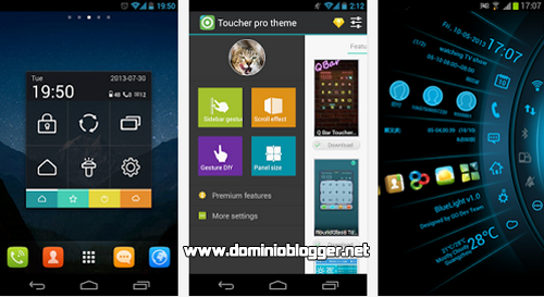 Personaliza tu telefono movil con Toucher Pro