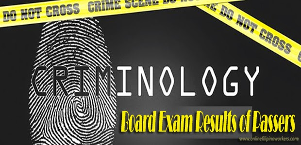 Criminology Board Exam Results last October 2014 Complete list of Passers Released