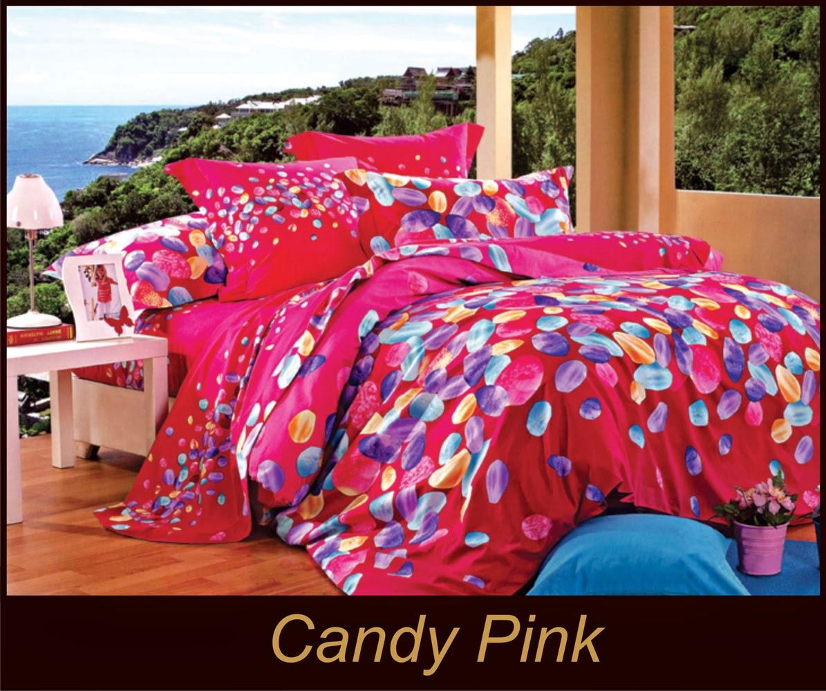 Sun Store Juni 2014 Sprei Katun Jepang Orchid Pink Bedcover Candy