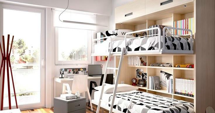La buhardilla decoraci n dise o y muebles habitaciones juveniles literas abatibles o - Habitaciones juveniles tipo tren ...