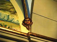 Detall del sostre de la capella de Sant Pere de Postius