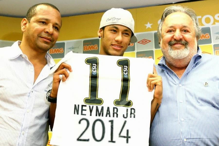 Neymar pai Santos Barcelona