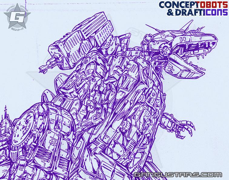 Trypticon Studio OX Transformers design sketch art スタジオOX トランスフォーマー タカラ