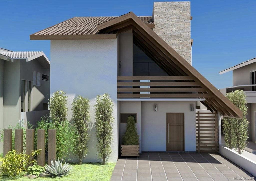 Fachadas de casas de sobrados veja 50 modelos lindos - Fachadas casas de pueblo ...