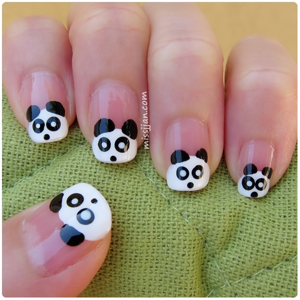 Missjjans beauty blog panda nail art if you would like to see how to create this nail art in action please watch the video below prinsesfo Image collections