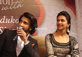 Ranveer and Deepika Padukone at Jaipur to Promote Ram leela  (5).jpg