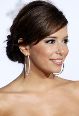 Eva Longoria Diamond Hoop Earrings