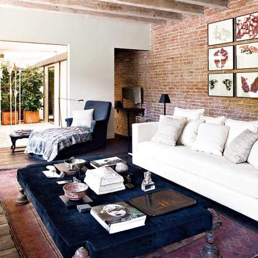 Arte y arquitectura paredes de ladrillo visto en casa for Paredes ladrillo visto