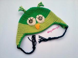Topi Rajut Owl, Crochet Owl Hat, Crochet Baby Hat