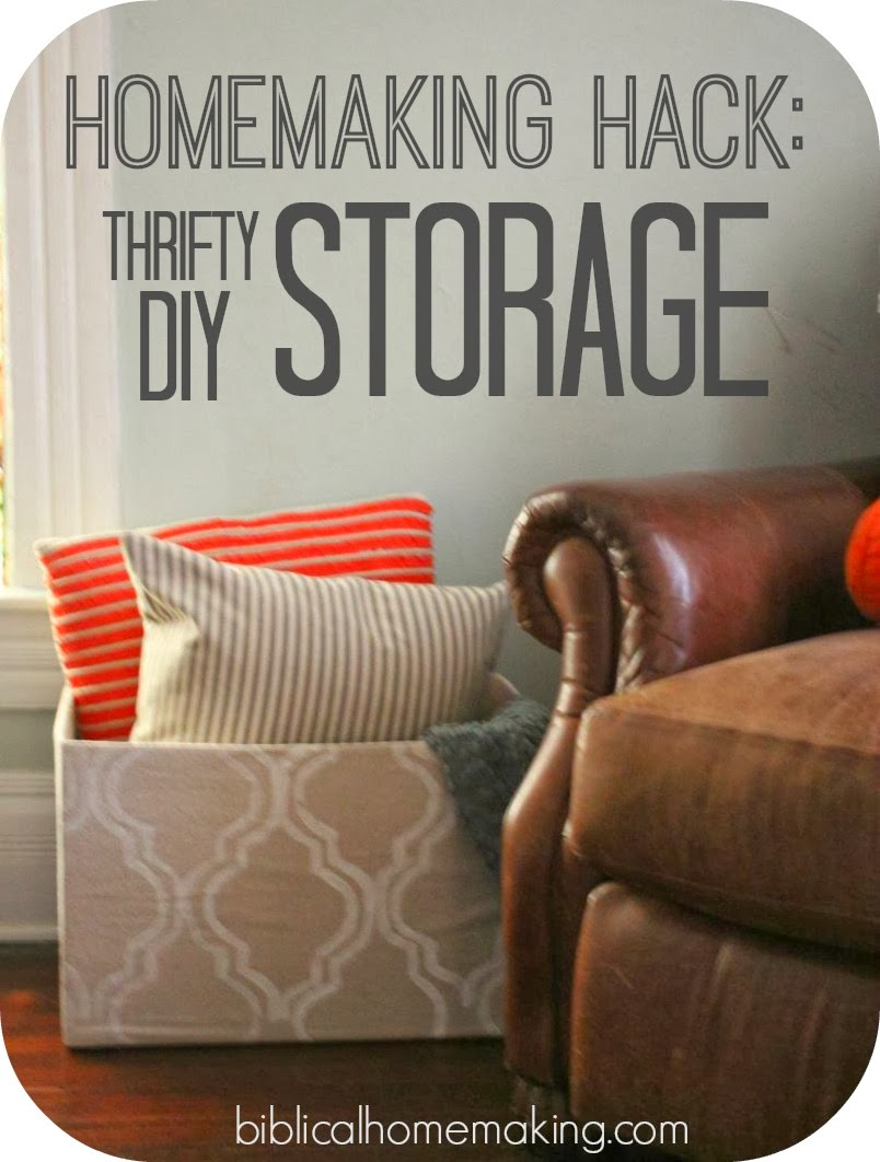 Homemaking Hack Make Your Own Cheap Beautiful Storage
