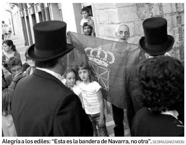 Ésta es la bandera de Navarra