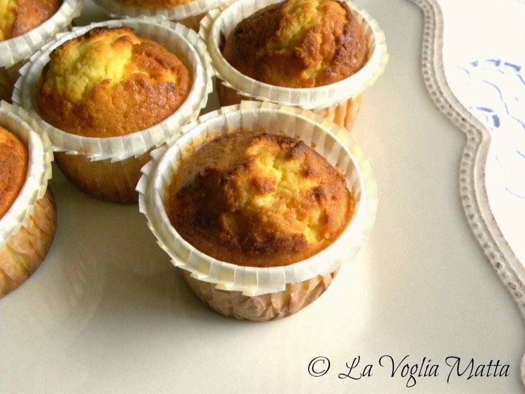 muffin all'arancia e mandorle