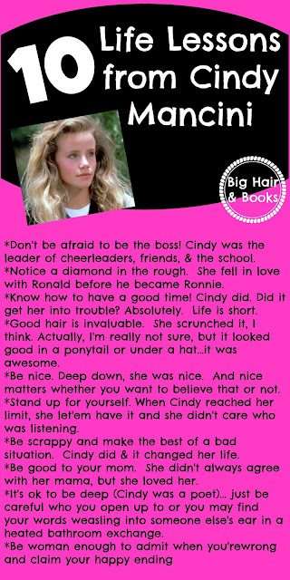 10 Life Lessons from Cindy Mancini #CantBuyMeLove #CindyMancini #AmandaPeterson #80s #PatrickDempsey