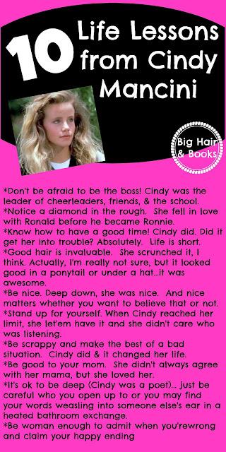 10 Life Lessons from Cindy Mancini #CantBuyMeLove #CindyMancini #AmandaPeterson #80s #PatrickDempsey