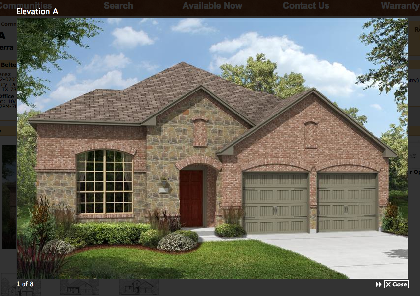 The house that we built brick choice for Brick and stone elevations