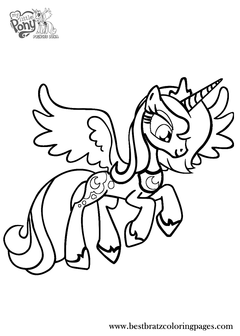 Free Printable Princess Luna Coloring Pages