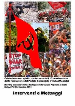 Atti del Meeting Internazionale per l'anniversario del PCI (maoista)